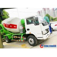 Buy cheap Truck Mounted Transit Mixer Truck , Mobile Low Angle Small Cement Mixer Truck from wholesalers