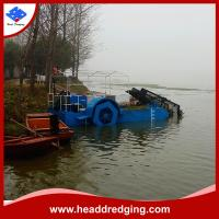 Buy cheap hydraulic weed collection dredger aquatic weed harvester trash skimmer producer product