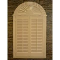 Buy cheap indoor 100% basswood arch shutters for windows without control bar from wholesalers