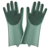 Buy cheap Cleaning Silicone Sponge Dishwashing Gloves  Reusable Brush Scrubber Gloves For Housework, Kitchen from wholesalers