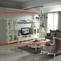 Buy cheap Neoclassical Living Room Furniture by Pure white Wall Unit and Coffee table with Luxury Sofa set from wholesalers