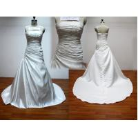 Buy cheap Bateau Neckline A-line Strapless Real Sample Wedding Dresses With Embroidery from wholesalers