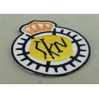 Buy cheap Customized Embroidered Badge For Business Promotion , Black Merrow Eedge from wholesalers