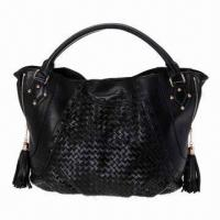 Buy cheap Fashionable Plait Leather Handbag from wholesalers