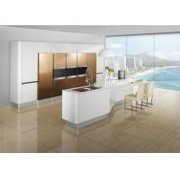 Buy cheap Free Standing Brown Painting Modern Kitchen Cabinets , Island Kitchen Cabinet from wholesalers