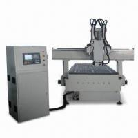Buy cheap CNC Vertical/Horizontal Engraving Machine with 0.025mm Resolution and 4.5kW Spindle Power Italy HSD from wholesalers