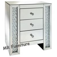 Crystal diamond design mirrored chest of drawer bed side for Table 6 2 specification for highway works