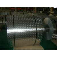 China 4 mm Roll Aluminum Checkered Plate , Steel Diamond Plate Sheets For Bus on sale