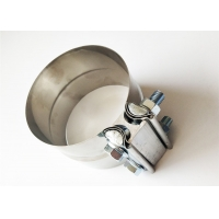 Buy cheap 304 Bright Stainless Steel 0.02 Thick Lap Joint Clamp from wholesalers