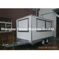 Buy cheap Snow White Juice Food Truck Trailers Van Street Coffee Kiosk Three Windows from wholesalers