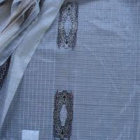 Buy cheap Voile jacquard curtain fabric with fancy metallic yarn from wholesalers