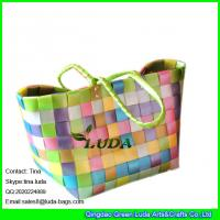 Buy cheap LUDA colorful pp strap woven shopper bag plastic straw shopping bag from wholesalers