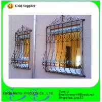 Buy cheap wrought iron metal bar iron window grill design from wholesalers