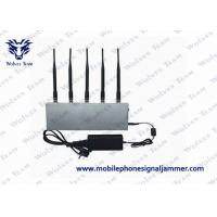 Buy cheap UHF Audio Mobile Phone Signal Jammer 8W ± 500mA Total Transmit Power CE Certificated product