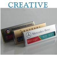 Buy cheap Aluminum Reusable Name Badges product