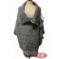 Buy cheap Customized Lady Casual Woolen Cowl Neck Poncho Sweater Oversized Long Knitwears for Winter from wholesalers