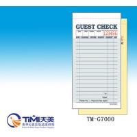 Buy cheap 2018 NRA  GUEST CHECK 2parts carbonless paper CT-G7000 for restaurant usage easy tearing from wholesalers
