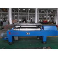 Blue Horizontal Decanter Centrifuge Speed 3600 R/Min Starch Washing And Dehydrating