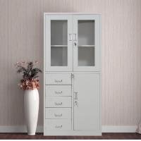 Buy cheap Large Capacity Steel File Cabinet With Lock , Fiber Glass Door 5 Drawer Metal Filing Cabinet from wholesalers