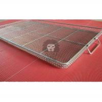 Buy cheap Woven Fabric Basket Tray Grade304 Stainless Steel Dimensions:L600mmXW450mmXH25mm Opening 5mmx5mm and Wire dia.1.0mm from wholesalers
