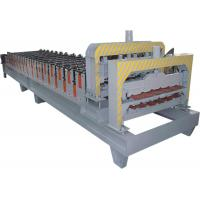 Buy cheap Automatical Roof Glazed Tile Roll Forming Machine With PANASONIC PLC Computer Control from wholesalers
