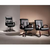 Buy cheap black ox leather swivel office chair with big seater and high denesity sponge and solidwoodframe BS69801sL from wholesalers