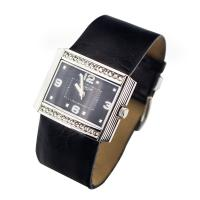 Buy cheap Fashion Square black leather strap watches for men , Diamonds Alloy Case from wholesalers