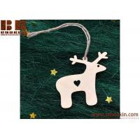 Buy cheap Wood deer Ornaments Christmas Holiday Decor Wooden Christmas Ornaments Handmade Wood Ornament Christmas Gift from wholesalers