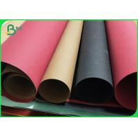 Buy cheap 0.55MM / 0.3MM Double Side Smooth Washable Kraft Paper Roll Brown / Black / Red from wholesalers