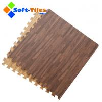 Buy cheap Dark Wood Effect Foam Flooring Tiles from wholesalers