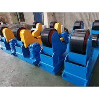Buy cheap Self Aligning Turning Rolls 40 Tons Capacity Use Polyurethane Material Wheels and Siemens VFD Control Linear Speed from wholesalers