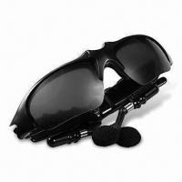 China MP3 and Bluetooth Sunglasses with Wind and Side Impact Protection on sale