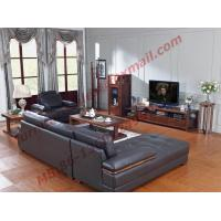 Buy cheap Italy Leather Sofa with L-Shape in Wooden Sofa Set from wholesalers
