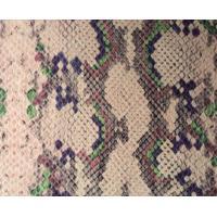 Buy cheap Film Lamination Snakeskin Vinyl Fabric , Snakeskin Fabric With 2005 / 84 / EC Standard product