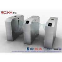 Quality Pedestrian Turnstile Flap Barrier Gate Access Control System Half Height 550mm for sale