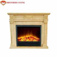 Buy cheap High Durability Natural Stone Fireplaces , Beige White Marble Fire Surround from wholesalers
