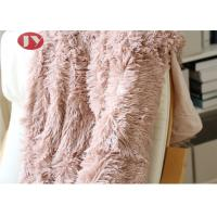 Buy cheap Pink PV Plush Long Faux Fur Blanket , Luxury super soft shaggy fleece fuzzy plush blanket for sofa ,couch from wholesalers