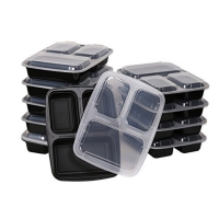 Buy cheap 4 Compartment Disposable Transparent Plastic Food Containers from wholesalers