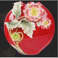 Buy cheap Chinese Modern Art Red Vases with Flowers for Wholesale (FS-105001) from wholesalers