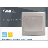 Buy cheap wall switch socket wall  ,  1 gang 2 way  lighting wall switch from wholesalers