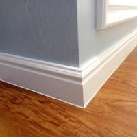 Buy cheap 100mm New 3D Decor Material WPC White Skirting board Moulding PVC Foam Skirting Board,skirting board profiles from wholesalers