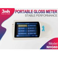 Buy cheap NHG60 Portable Gloss Meter 60 Degree , Aluminum plate Template Gloss Meter With 3.5 Inch Touch Screen from wholesalers
