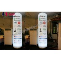 Buy cheap customized Inflatable advertising pillar, outdoor advertising cone, with remote control colorful LED light from wholesalers