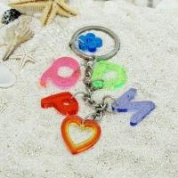 Buy cheap Souvenir Keychain, Made of Acrylic, Measuring 18 x 18 x 3mm from wholesalers