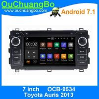 Buy cheap Ouchuangbo 1024*600 Android 7.1 system for Toyota Auris 2013 with DDR3 2GB 1.6GHz 1080P Video calendar function from wholesalers