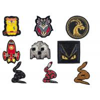 Buy cheap Indian spring silk owl deer bat rocket animal handmade embroidery badge uniform shoes badge patch product
