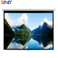 Buy cheap White Manual  Projection Projector Screen  100 Inch  With  Metal  Handle For Confence Room from wholesalers