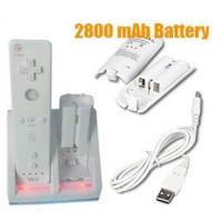 Buy cheap DC 5V Nintendo Wii Remote Controller With USB Cable, 2800mAH Rechargeable Battery from wholesalers