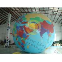 Buy cheap Custom 5m PVC Durable Inflatable Globe Ball Helium For Tade Show product