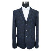 Buy cheap Autumn Print Suit Blazer For Mens 70% Cotton 30% Polyester Knitted Fabric from wholesalers